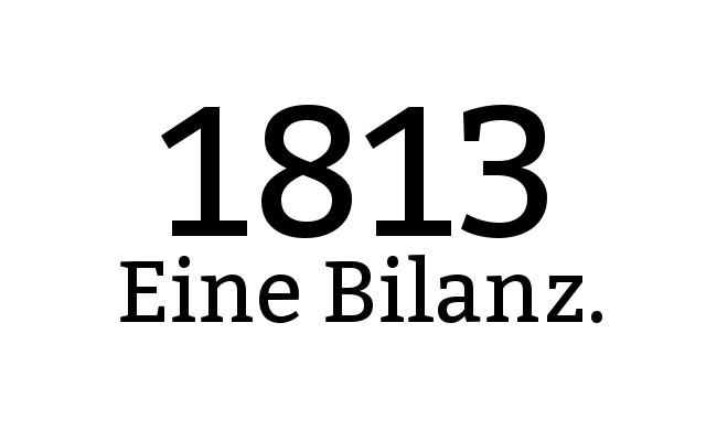 1813 Eine Bilanz.